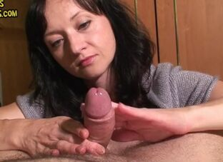 Hard up cumshot